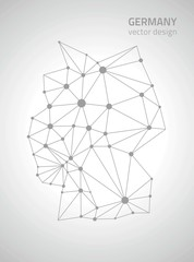 Germany polygonal vector map