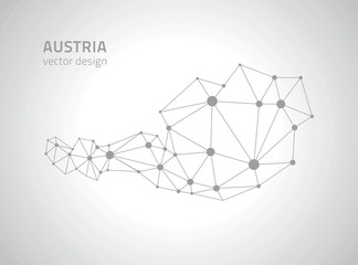 Austria vector polygonal map