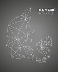 Denmark vector black Europe map