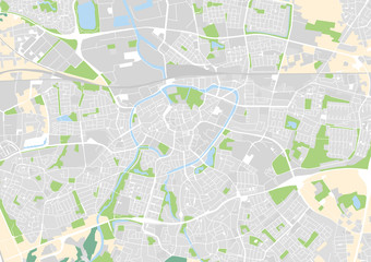 vector city map of Breda, Netherlands
