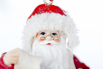 close-up of santa with a list.