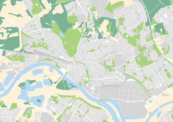 vector city map of Arnhem, Netherlands