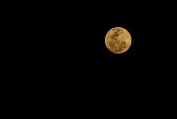 Abstract full moon background blur.