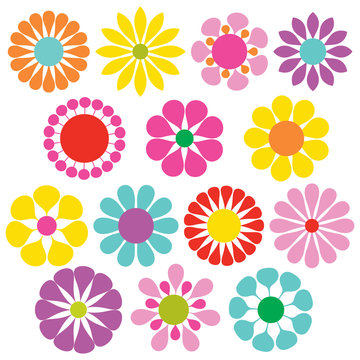 simple vector flowers