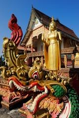 Wat Ma ha That beautiful temple at Vang Vieng, Vientiane province, Laos.