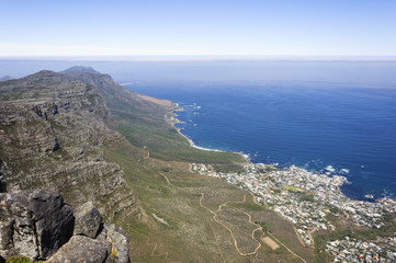 Beautiful seaside scenery and blue sky, Cape Town, South Africa