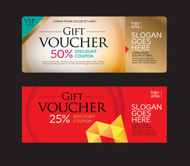 Gift voucher and discount voucher