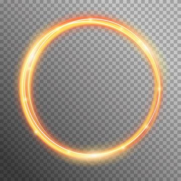 Vector fire sparkle spiral wave line with flying sparkling flash lights