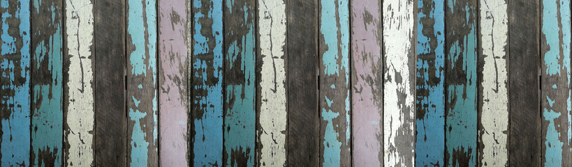 cracked painted wood banner background