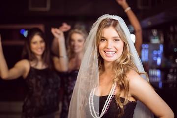 Woman celebrating her bachelorette party
