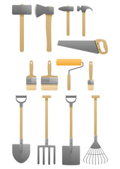 shovel brush tool set ax hammers
