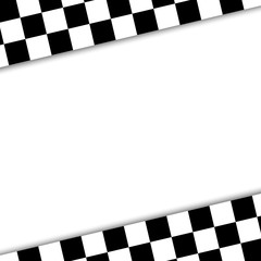 flag to finish the race illustration