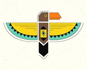 Linear logo thunderbird.