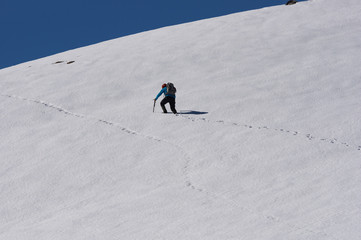 Mountaineer hiking