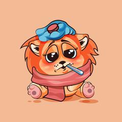 Lion cub sick