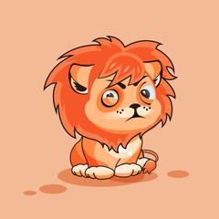 Lion cub squints