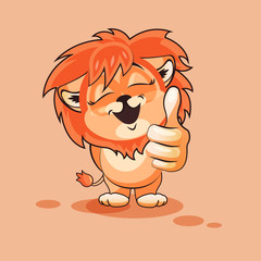 Lion cub thumb up
