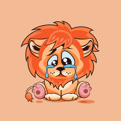 Sad Lion cub crying