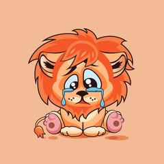 Sad Lion cub crying