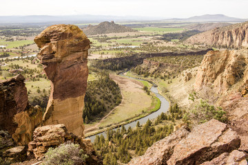 High angle view of Smith Rock State Park, Oregon, United States