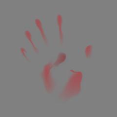 Blurred handprint on a dark background. Vector illustration.