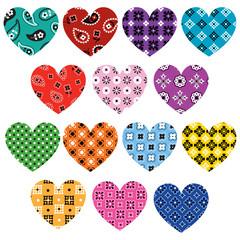 bandana hearts