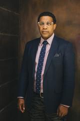 Serious Mixed race businessman