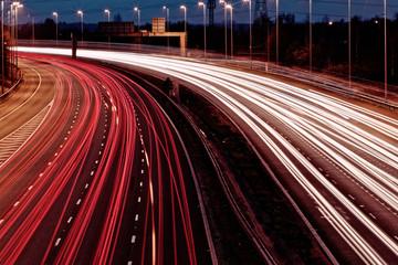 long exposure - motorway highway