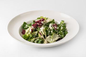 Fresh salad wtih red cabbage and yogurt