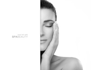 Spa and Skincare Concept. Natural Young Woman Face