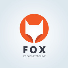 Fox logo,wolf logo template
