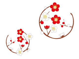 circle with plum blossom