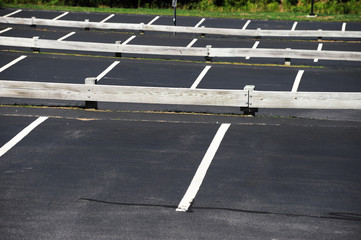 close up on empty parking lot outdoor