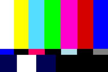 vintage television test pattern