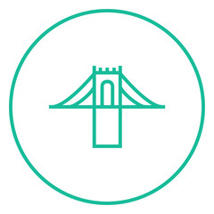 Bridge line icon.