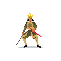 Samurai. Vector Illustration.