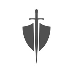 Abstract illustration - shield and sword icon