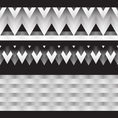 Black and white gradient. Vector drawing. Geometric vector illustration.