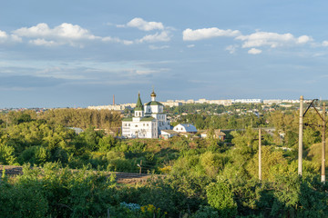 Summer panorama of the city of Mtsensk of Oryol Region of Russia