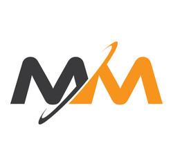 MM initial logo with double swoosh