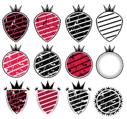 grungy texture background badge with stripes vector illustration