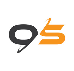 OS Initial Logo With Double Swoosh