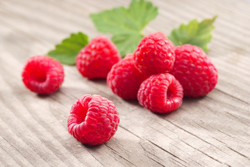 Healthy Raspberries. Close up, high resolution product. Harvest Concept