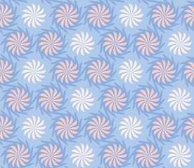 Seamless twisted flowers pattern