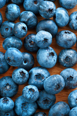 Healthy blueberries background. Close up, top view, high resolution product. Harvest Concept
