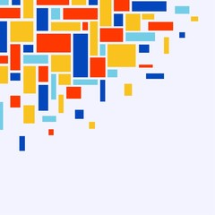 Mosaic from rectangles - vector illustration