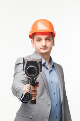 thermal instrument in man's hand