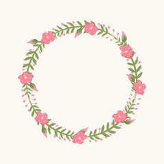 Floral Frame, for wedding invitations and birthday cards