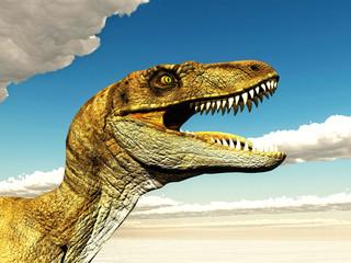 Velociraptor 3D illustration