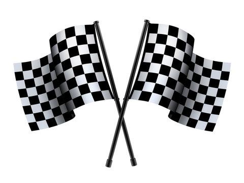 Checked sport flag